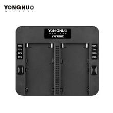 YONGNUO YN750C ładowarka akumulatorów litowych podwójny kanał baterii szybkie ładowanie kompatybilny dla Sony NP F750 NP F950/B NP F530 NP F550