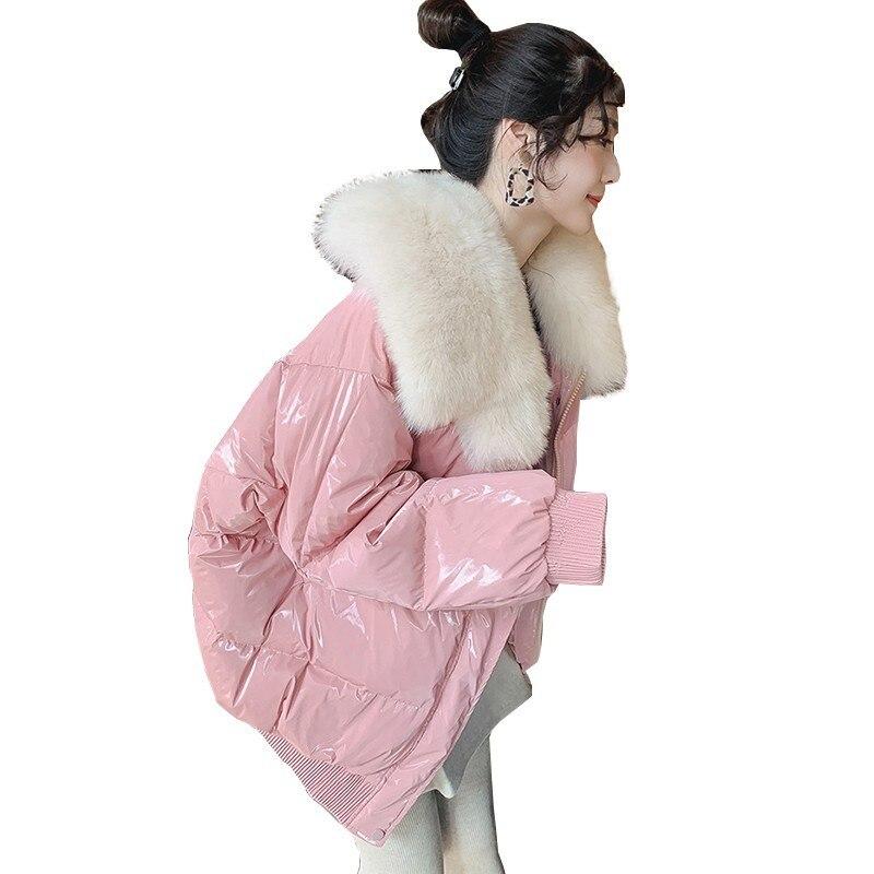 90% duvet de canard blanc hiver femmes 2018 Chaqueta Mujer manteau avec naturel réel fourrure de renard col court Parka femme Abrigo Mujer