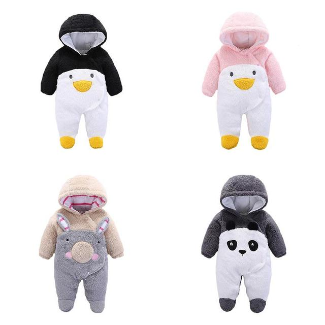 2018 Infant Romper Baby Boys Girls Jumpsuit New Born Bebe Clothing Hooded Toddler Baby Clothes Cute Panda Romper Baby Costumes 5