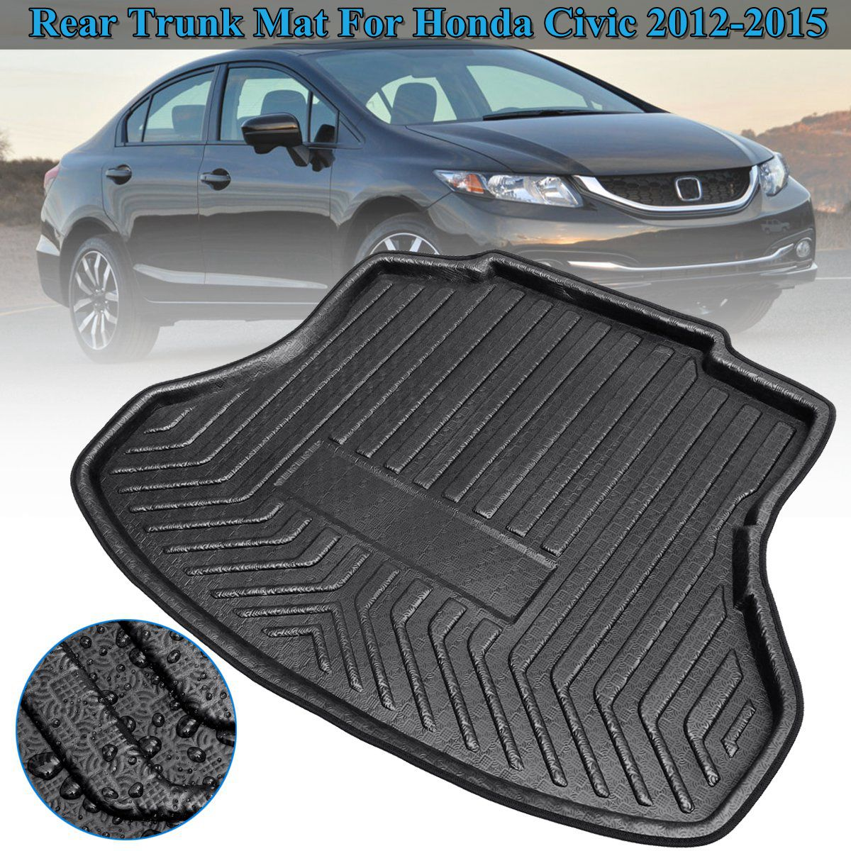 NEW Cargo Boot Liner Tray For Honda For Civic 2012 2013 2014 2015 Boot Cargo Liner Tray Rear Trunk Floor Mat Carpet Mud Pad