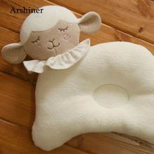 Baby Plush Toys Infant Newborn Sleep Positioner Prevent Flat Head Shape Support Cute Soft Sheep Pillow(China)