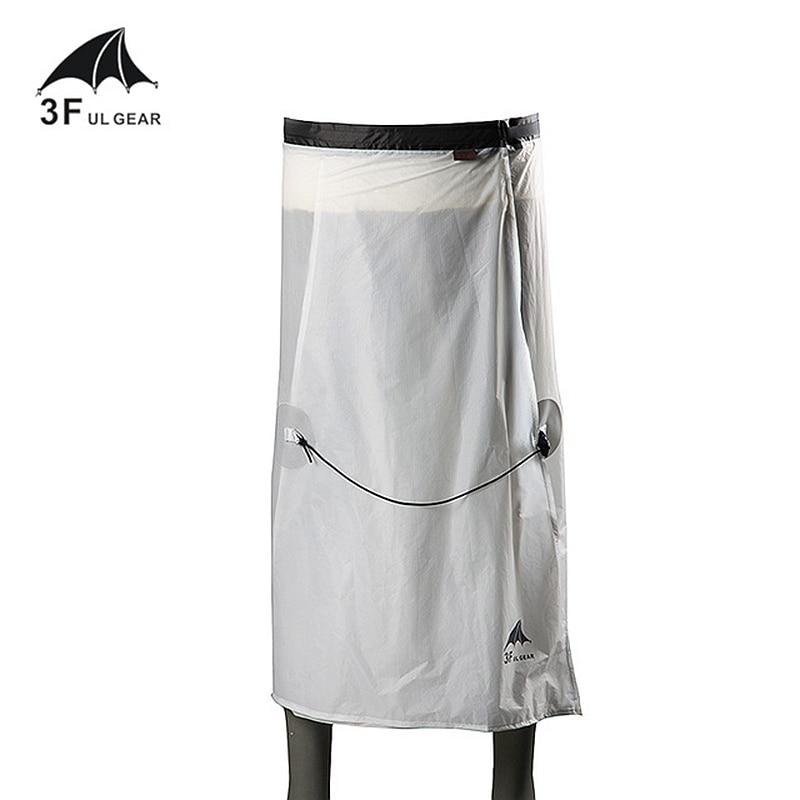 3F UL GEAR Cycling Camping Hiking Rain Pants Lightweight Waterproof Rain Skirt 15D Silicone Only 65g
