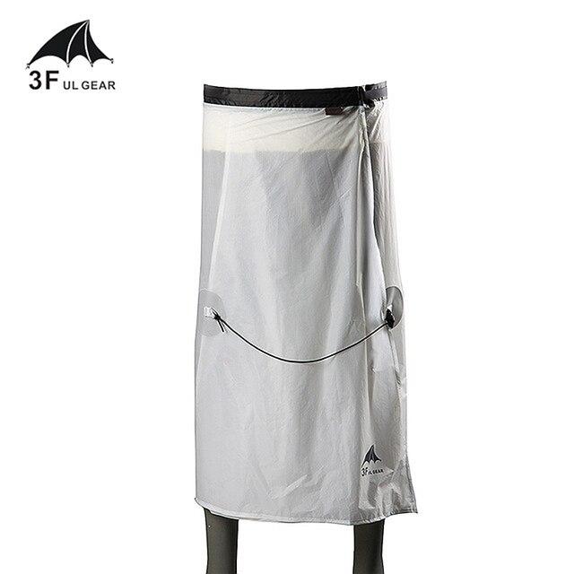 3F UL ציוד רכיבה על אופניים קמפינג טיולי גשם מכנסיים קל משקל עמיד למים גשם חצאית 15D סיליקון רק 65g
