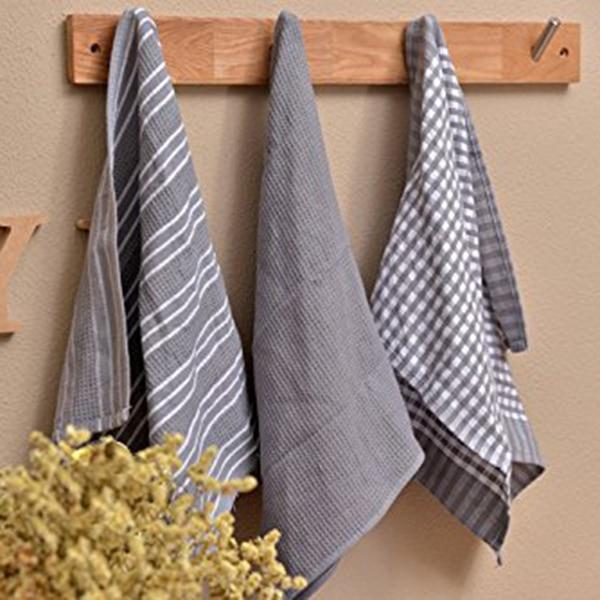3 pcs set Kitchen Towels Classic 100 Natural Cotton Tea Towels Dish Cloth Absorbent Lint Free