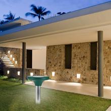 цена на LED Solar Powered Ultrasonic Sonic Mouse Insect Repellent Garden Light Outdoor LED Lawn Lamp garden lamp