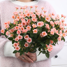 2019 Rose Artificial Flowers Bouquet Fake Flower Bridal Bouquet Decorate Silk Flowers for Wedding Home Decoration все цены