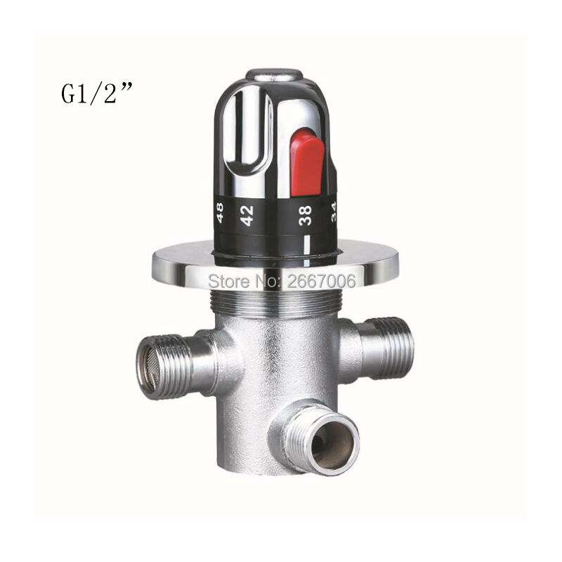 Free shipping G1/2 Good Qualit Brass Concealed Thermostatic Mixing Valve Water Temperature Control Bath Tub Shower Valve ZR1010
