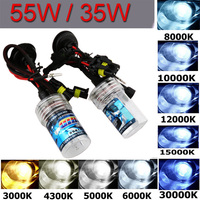 2 шт. H11 35 Вт/55 Вт автомобильный ксенон hid сменный лампы 3000 K до 30000 K 12 V Автомобильные светодиодные лампы фар