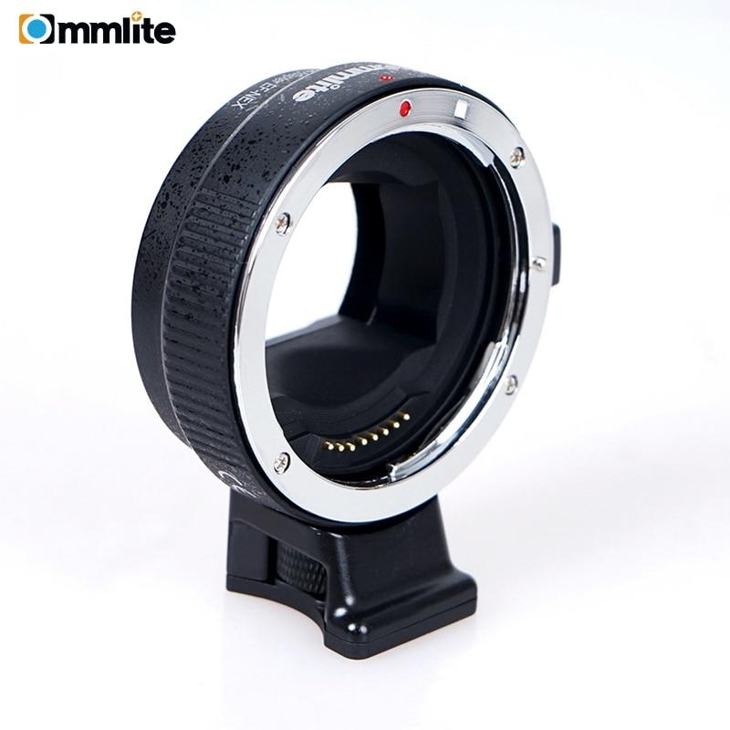 Commlite CM-EF-NEX adaptador de montagem de lente de foco automático para lente canon ef para usar para câmeras de montagem sony nex