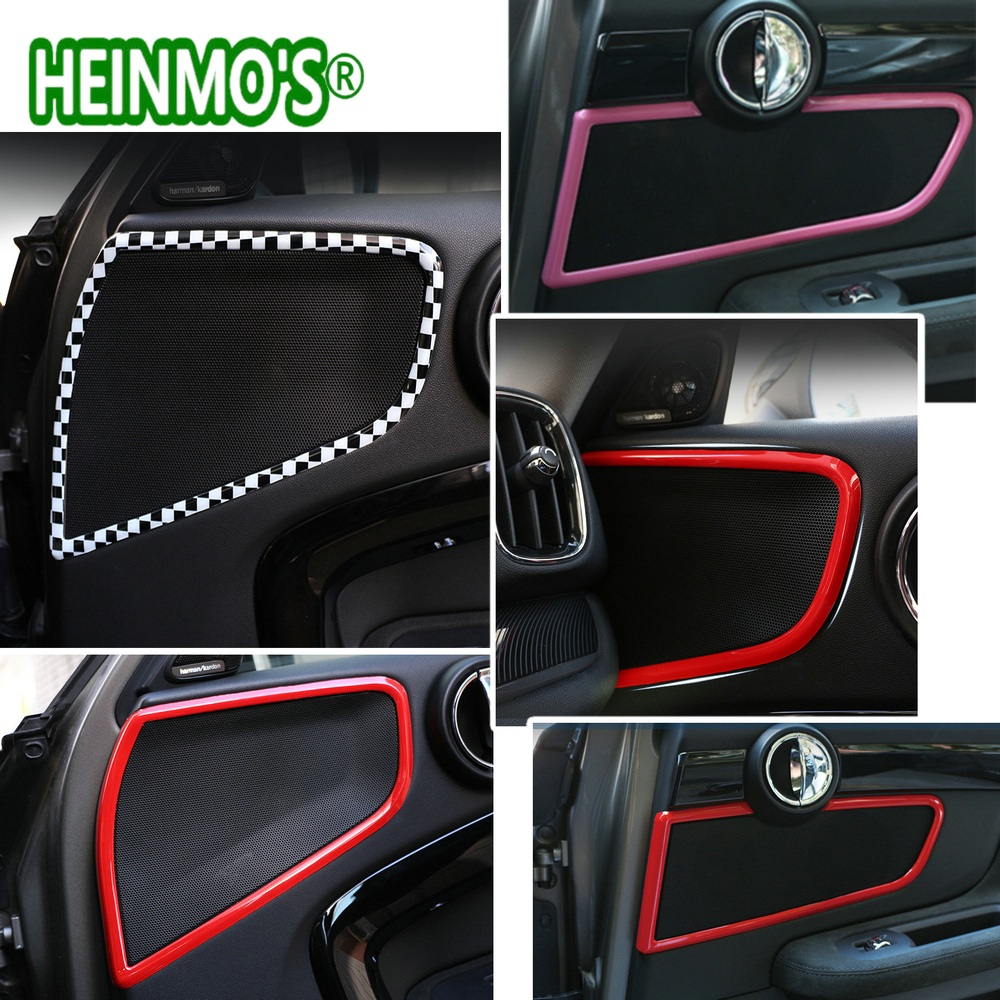 4PCS For Mini Countryman F60 Door Audio Speaker Decoration Sticker Cover For Mini F60 Car Styling