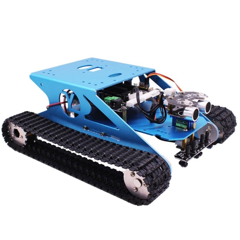Robot Car Serbatoio Kit Per Arduino Intelligente Programmabile Serbatoio Chassis Robot Del Veicolo, intelligente di Apprendimento e di Stelo Bambini Educativi Giocattolo Super
