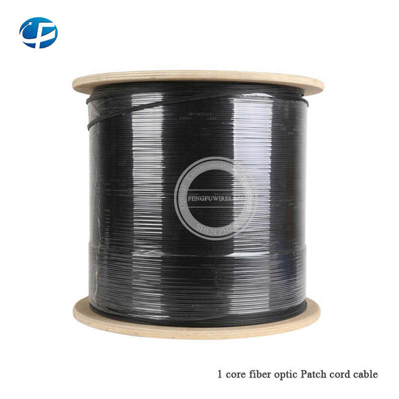 Wholesale 1000m/roll FTTH fiber optic drop cable 1 core White Steel Wire fiber optic Cable with PVC LSZH on sale