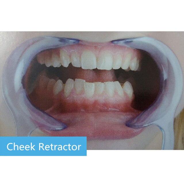 10 piezas tipo C abridor de boca alisador de dientes delineador de labios limpieza Oral abridor de labios rebote de labios Dental modelo abridor de boca