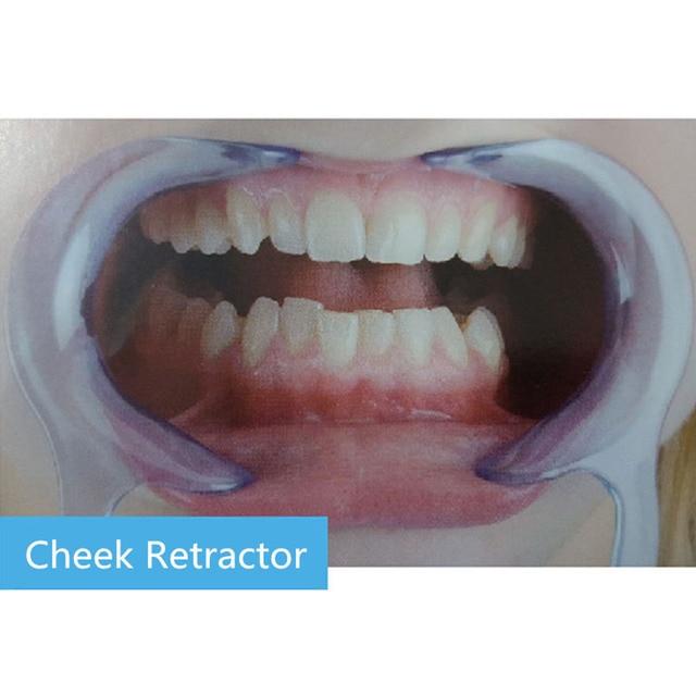 10 piezas tipo C boca abridor diente plancha estabilizador labio limpieza Oral abridor Dental mejilla labio Retractor boca abridor modelo