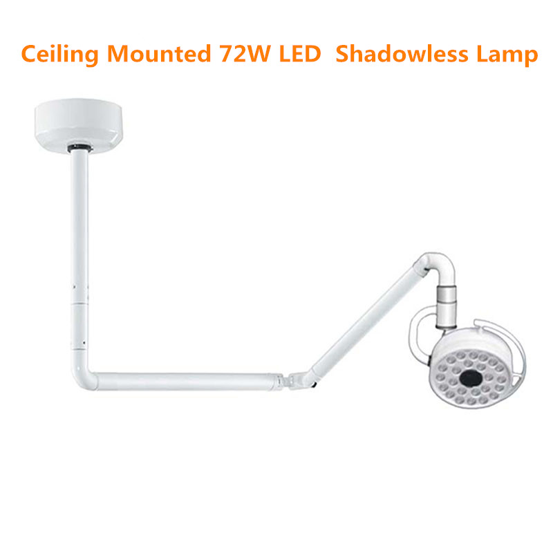 Ceiling Mounted 72W LED Surgical Examination Light Shadowless Lamp Surgery Dental Department Pet Clinic Lamp Operation Light