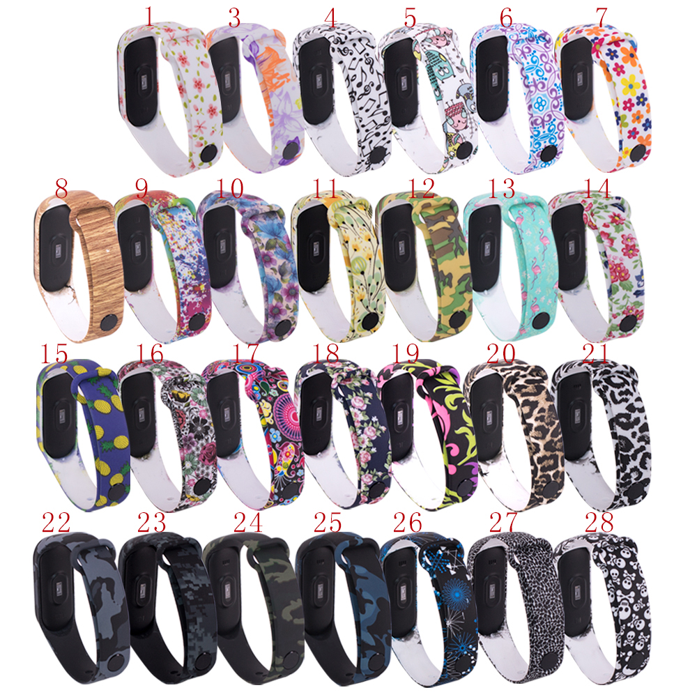 1Pcs 27 Colors Outdoor TPU Replacement Pedometers Band Strap For Xiaomi 3 Band Pedometers Band Replacement Accessories