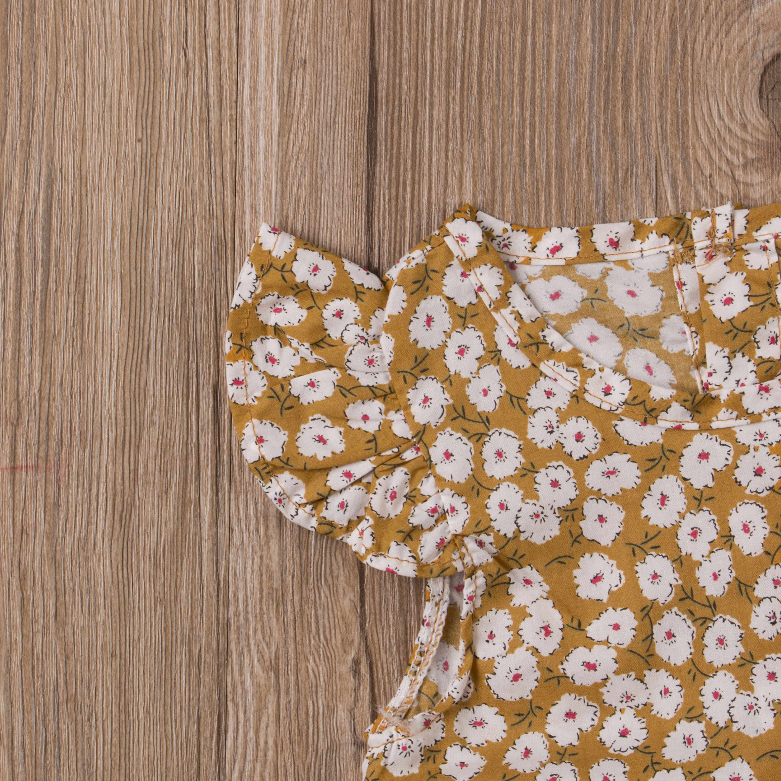 Для новорожденных обувь для девочек с рукавом бабочкой прекрасный цветочный спортивный комбинезон боди Летние наряды одежда