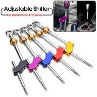 Car Adjustable Height Dual Bend Short Gear Shifter Lever M10*1.5 For Honda/Civic Integra CRX B16 B18 B20 D16