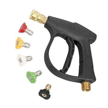 Lavadora automática de lavagem de carro de alta pressão-arma, 3000 psi max com 5 cores rapidamente conectar bocais m22 mangueira conector 3.0 ponta