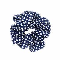 European and American popular medium chiffon fiber wave point hair ring high elastic hair ring