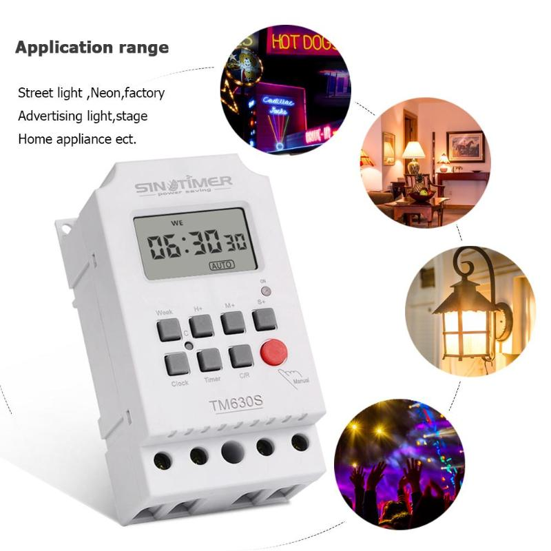 7 Tage Pro Woche Programmierbare Lcd Digital Timer Schalter Controller Einstellung Uhr Küche Timer Steckdose 12 V/220 V Messung Und Analyse Instrumente Werkzeuge