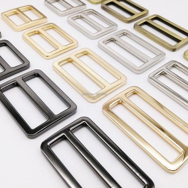 Fai da te in metallo resistente spessore spalla borsa in pelle tracolla cintura Web rettangolo regolare tri-glide fibbia ad ardiglione cursore anello O D anello