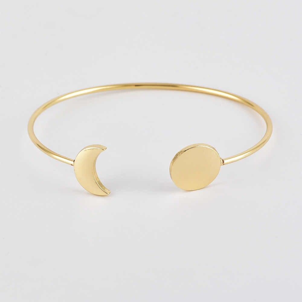 2019 New Bracelet Bracelet Fashion Leaf Moon Bracelet Five-piece Set Female Set Decoration Party Gift Drop shipping