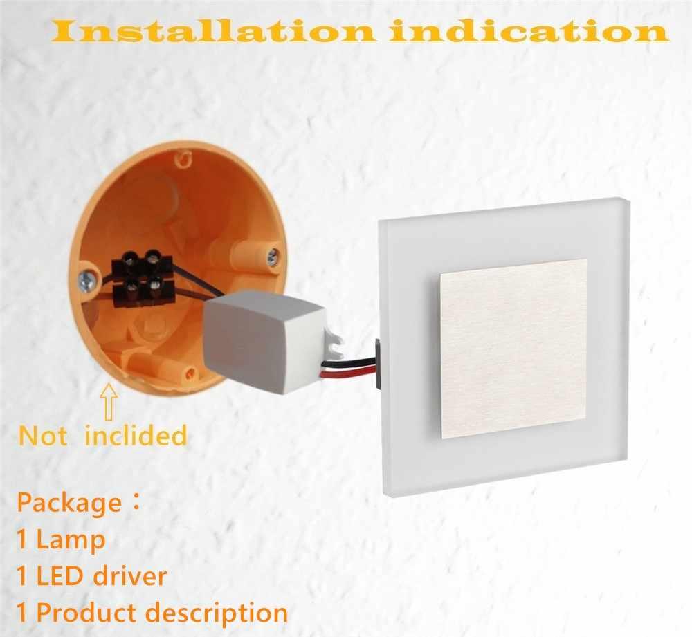 Новый светодиодный настенный светильник 3 Вт COB ночные светильники AC110V до 260 V Встроенный Лестницы рампа акриловый настенный светильник Современный Бра домашний декор настенные светильники
