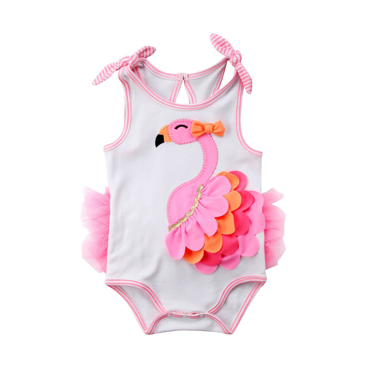 46eadd0048690 Flamingo Newborn Baby Girl Cartoon Swimwear One Pieces Bathing Suit  Beachwear Swimming Costume 0-18M