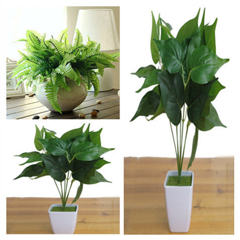 1PC Artificial Decoration Vivid Persian Leaf Grass Plants for Home Garden Party Decor in Artificial Dried Flowers from Home Garden