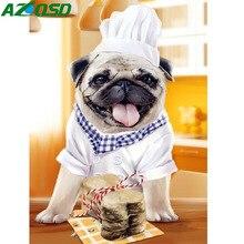 Azqsd алмазная живопись животные Бриллиантовая мозаичная собака шеф-повара 5D DIY полный квадратный/круглый алмаз вышивка крестиком домашнее украшение