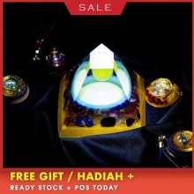 AURA REIKI Luminous Orgonite Pyramid FengShui Reiki Chakra Healing MineralCrystal Improvement Academic Resin Decorative Craft
