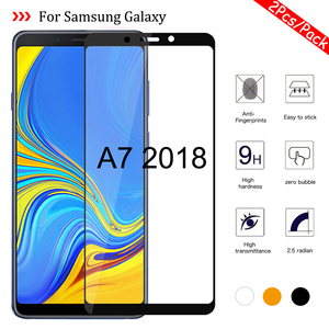 Image 1 - 1 2Pcs/Pack A7 2018 Glass for Samsung Galaxy A7 2018 A750 SM A750F Tempered Glass On the Samsun Glaxy A 7 2018 A72018 Cover Sklo