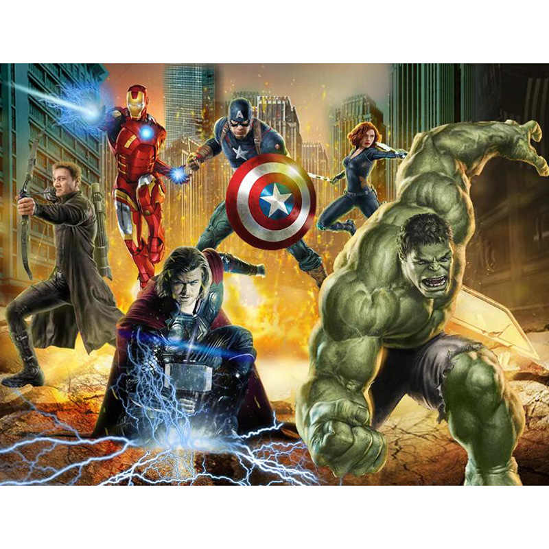 Diy 5D Square Diamond Painting Cross Stitch The Avengers