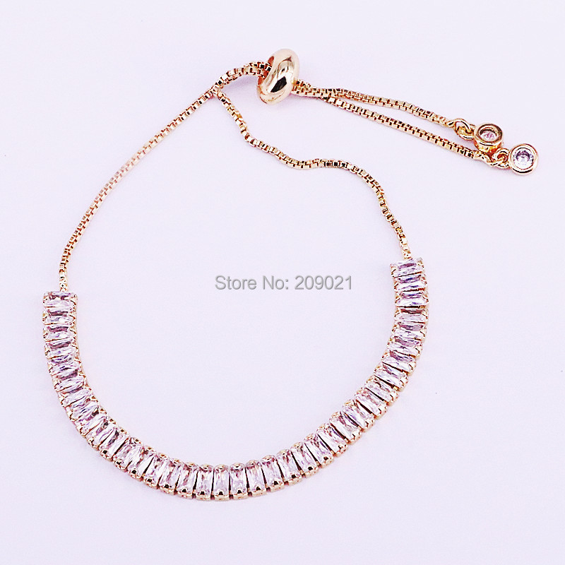 Image 2 - 10Pcs Hot New White Cubic Zirconia Pave Nicest Adjustable Fashion