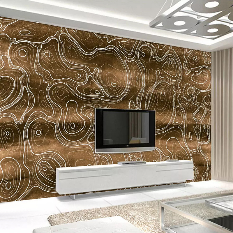 Custom 3D Photo Wallpaper Gold Abstract Geometric Curve Art Wall Painting Home Decoration Living Room TV Background Wall Mural
