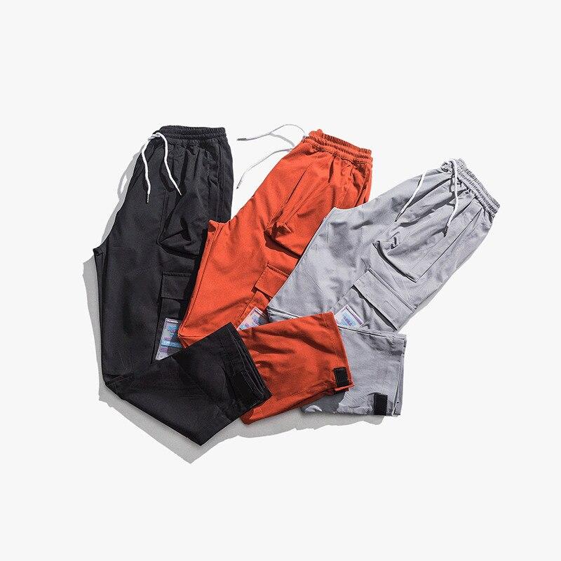 Nueva Coreana Un Hombres Black red Par 2019 dark Es Herramientas Verano Versión Chándal Casual Larga Grande Los Y Tendencia De Primavera Grey Bolsillo Streetwear Pantalones Xw8qv48t