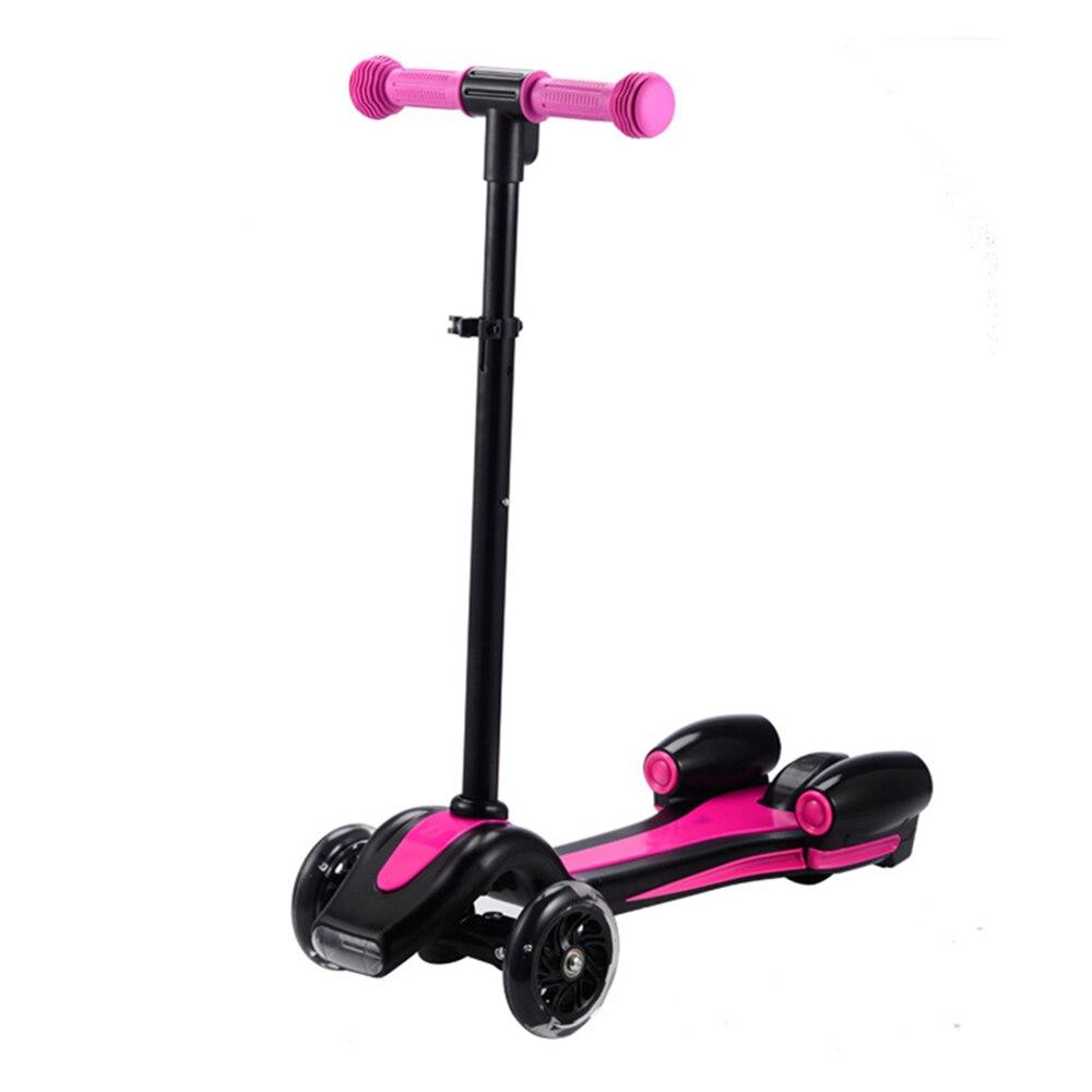Enfants créatifs enfants Flash Spray Scooter avec poignée réglable monter sur les voitures sport jouet enfant Skateboard Scooter électrique