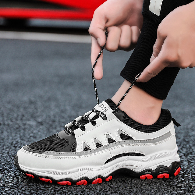c0c39acf2d2c8 Men s Shoes Platform Trainers Chunky Sneaker Dad Shoes Men Winter Tactical  High Platform Black And White Sneakers Men Winter New