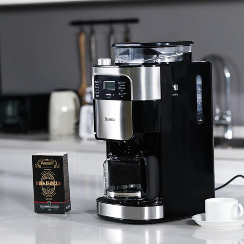 BARSETTO Household Automatic Coffee Machine Bean Flour Grinding Coffee Maker-EU PlugBARSETTO Household Automatic Coffee Machine Bean Flour Grinding Coffee Maker-EU Plug
