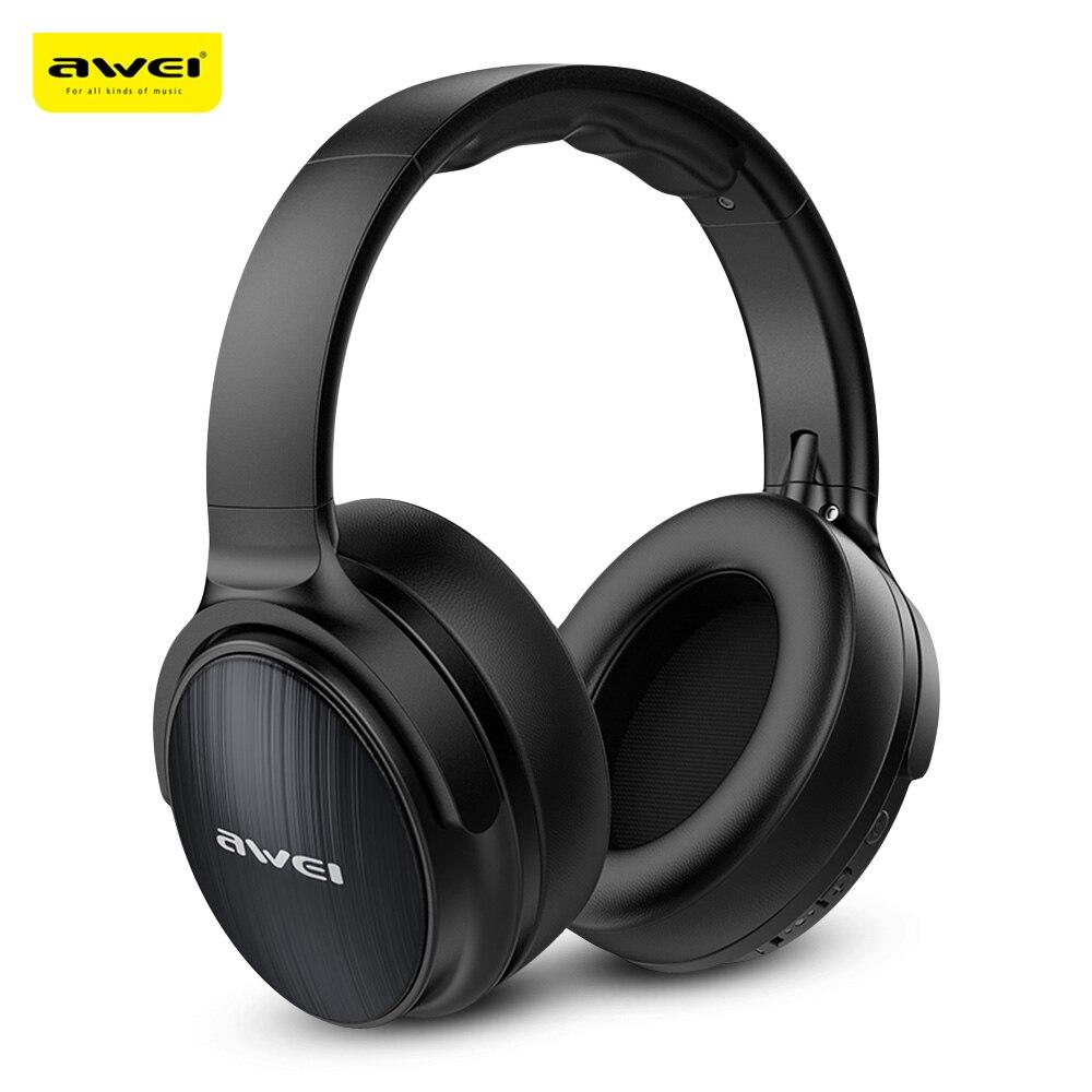 Awei A780BL Bluetooth 5.0 Sem Fio Fones de Ouvido Hi-Fi fone de Ouvido Estéreo Dobrável 300 H Standby IPX5 À Prova D' Água Com Microfone