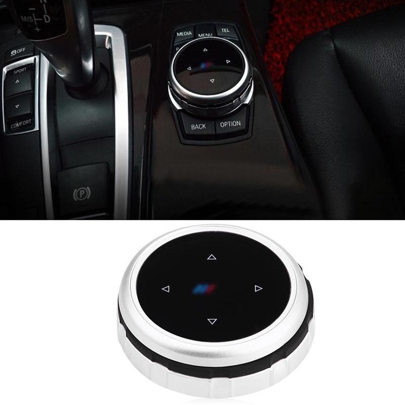 JXLCLYL 1PC Multimedia Knob Cover IDRIVE Button For BMW F10 F20 F30 E60 X1 X3 X5 X6