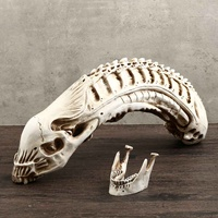Xenomorph Alien Movie Model Skull Resin Sketch Holloween Home Bar Decor Prop School Educational Medical Science Teaching Supply