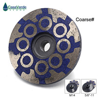1pc/lot Coarse Grit Diameter 100mm 4 inch resin filled diamond grinding wheels for grinding and polishing stone