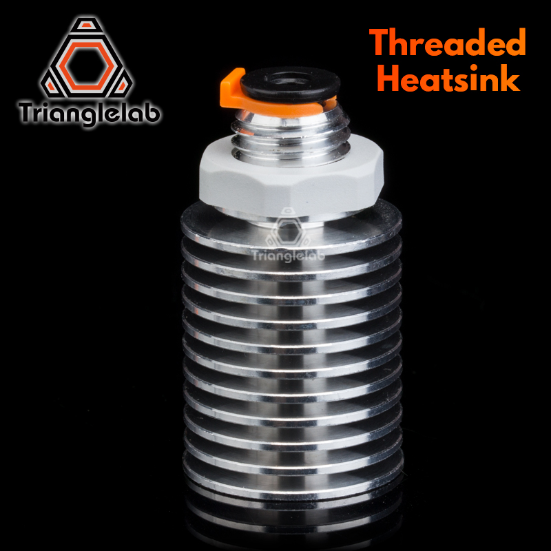 Trianglelab V6 Threaded Heatsink For E3D V6 Hotend Remote OR Short Range 1.75MM For  Feeding 3D Printer Titan Extruder