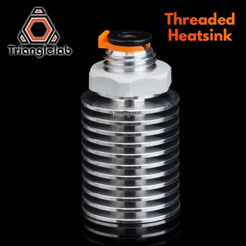 trianglelab V6 Threaded Heatsink for E3D v6 hotend Remote OR Short range 1.75MM for Feeding 3D printer titan extruder