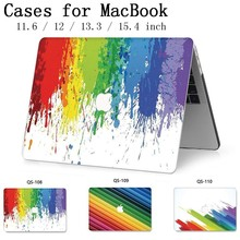 Caso Laptop Para 2019 New Apple MacBook Air Pro Retina 11 12 13 15 13.3 15.4 Polegada Com Protetor de Tela + Sacos de teclado Enseada Funda