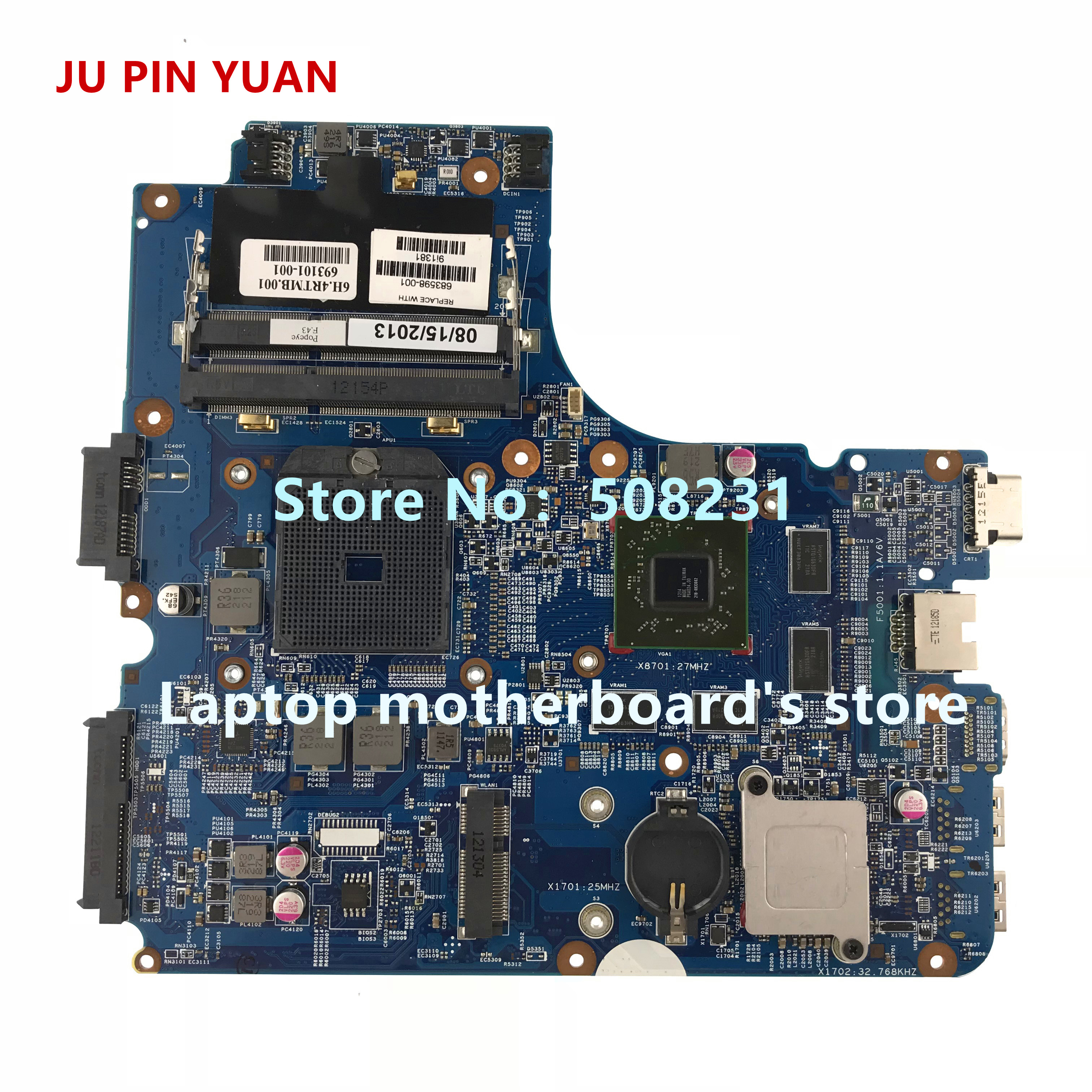 JU PIN YUAN 683598-501 for HP Probook 4445s 4545s 4446S Laptop motherboard 683598-001 683598-601 All functions fully TestedJU PIN YUAN 683598-501 for HP Probook 4445s 4545s 4446S Laptop motherboard 683598-001 683598-601 All functions fully Tested