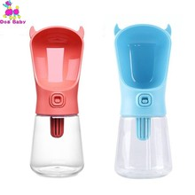 350ml Dog Travel Water Bottle Dispenser With Carbon Filter Plastic Cat Drinking Feeder Portable Outdoor Pet Bowl