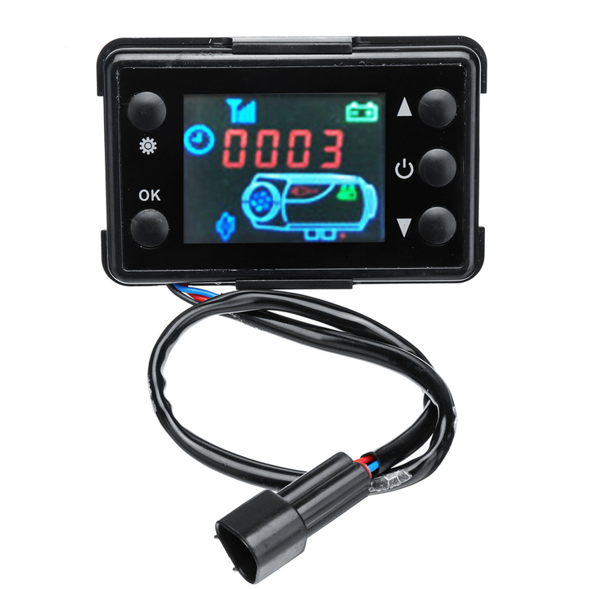 Electric Vehicle Parts 12v/24v 3/5kw Lcd Monitor Parking Heater Switch Car Heating Device Controller Universal For Car Track Air Heater